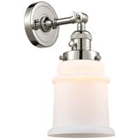 Innovations Lighting 203SW-PN-G181 Canton 1 Light 7 inch Polished Nickel Sconce Wall Light Franklin Restoration