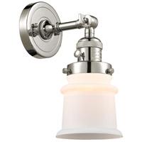 Innovations Lighting 203SW-PN-G181S Small Canton 1 Light 7 inch Polished Nickel Sconce Wall Light Franklin Restoration