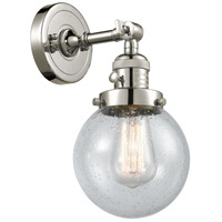 Innovations Lighting 203SW-PN-G204-6-LED Beacon LED 6 inch Polished Nickel Wall Sconce Wall Light