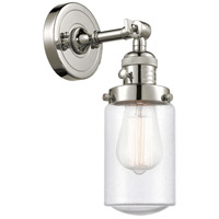 Innovations Lighting 203SW-PN-G314 Dover 1 Light 5 inch Polished Nickel Sconce Wall Light Franklin Restoration