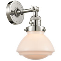 Innovations Lighting 203SW-PN-G321 Olean 1 Light 7 inch Polished Nickel Sconce Wall Light Franklin Restoration