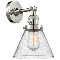 Innovations Lighting 203SW-PN-G44-LED Large Cone LED 8 inch Polished Nickel Wall Sconce Wall Light