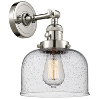 Innovations Lighting 203SW-PN-G74-LED Large Bell LED 8 inch Polished Nickel Wall Sconce Wall Light