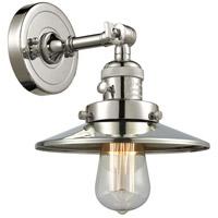 Innovations Lighting 203SW-PN-M1 Railroad 1 Light 8 inch Polished Nickel Sconce Wall Light Franklin Restoration