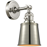 Innovations Lighting 203SW-PN-M9 Addison 1 Light 5 inch Polished Nickel Sconce Wall Light Franklin Restoration