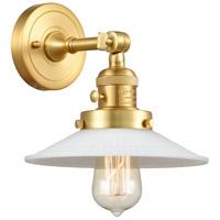 Innovations Lighting 203SW-SG-G1 Halophane 1 Light 9 inch Satin Gold Sconce Wall Light