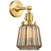 Innovations Lighting 203SW-SG-G146 Chatham 1 Light 6 inch Satin Gold Sconce Wall Light Franklin Restoration