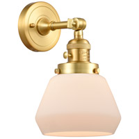 Innovations Lighting 203SW-SG-G171 Fulton 1 Light 7 inch Satin Gold Sconce Wall Light Franklin Restoration