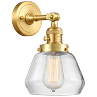 Innovations Lighting 203SW-SG-G172 Fulton 1 Light 7 inch Satin Gold Sconce Wall Light Franklin Restoration