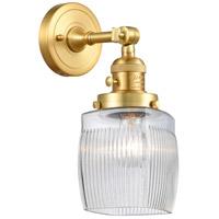 Innovations Lighting 203SW-SG-G302 Colton 1 Light 6 inch Satin Gold Sconce Wall Light