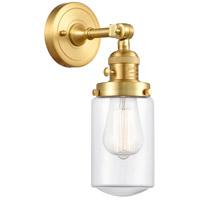Innovations Lighting 203SW-SG-G312 Dover 1 Light 5 inch Satin Gold Sconce Wall Light