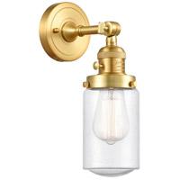 Innovations Lighting 203SW-SG-G314 Dover 1 Light 5 inch Satin Gold Sconce Wall Light