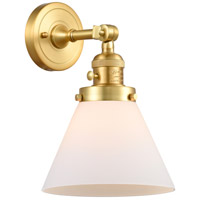 Innovations Lighting 203SW-SG-G41 Large Cone 1 Light 8 inch Satin Gold Sconce Wall Light