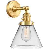 Innovations Lighting 203SW-SG-G42 Large Cone 1 Light 8 inch Satin Gold Sconce Wall Light