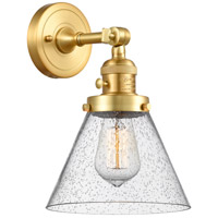 Innovations Lighting 203SW-SG-G44 Large Cone 1 Light 8 inch Satin Gold Sconce Wall Light