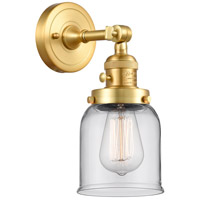 Innovations Lighting 203SW-SG-G52 Small Bell 1 Light 5 inch Satin Gold Sconce Wall Light