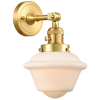 Innovations Lighting 203SW-SG-G531 Small Oxford 1 Light 8 inch Satin Gold Sconce Wall Light