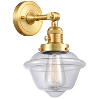 Innovations Lighting 203SW-SG-G532 Small Oxford 1 Light 8 inch Satin Gold Sconce Wall Light