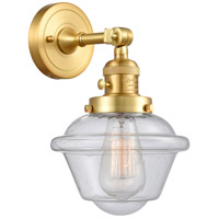 Innovations Lighting 203SW-SG-G534 Small Oxford 1 Light 8 inch Satin Gold Sconce Wall Light