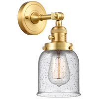 Innovations Lighting 203SW-SG-G54 Small Bell 1 Light 5 inch Satin Gold Sconce Wall Light