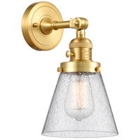 Innovations Lighting 203SW-SG-G64 Small Cone 1 Light 6 inch Satin Gold Sconce Wall Light