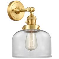 Innovations Lighting 203SW-SG-G72 Large Bell 1 Light 8 inch Satin Gold Sconce Wall Light Franklin Restoration