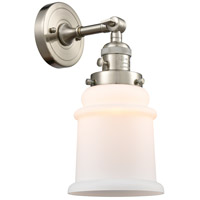 Innovations Lighting 203SW-SN-G181 Canton 1 Light 7 inch Brushed Satin Nickel Sconce Wall Light Franklin Restoration