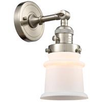 Innovations Lighting 203SW-SN-G181S Small Canton 1 Light 7 inch Brushed Satin Nickel Sconce Wall Light Franklin Restoration