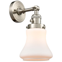 Innovations Lighting 203SW-SN-G191 Bellmont 1 Light 7 inch Brushed Satin Nickel Sconce Wall Light Franklin Restoration