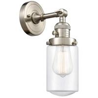 Innovations Lighting 203SW-SN-G312 Dover 1 Light 5 inch Satin Nickel Sconce Wall Light Franklin Restoration