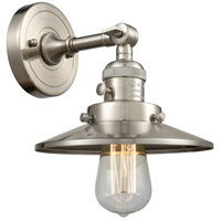 Innovations Lighting 203SW-SN-M2 Railroad 1 Light 8 inch Brushed Satin Nickel Sconce Wall Light Franklin Restoration