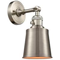 Innovations Lighting 203SW-SN-M9-SN Addison 1 Light 5 inch Brushed Satin Nickel Sconce Wall Light Franklin Restoration