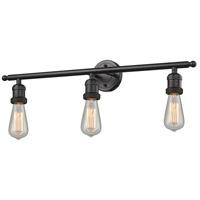 Innovations Lighting 204-OB-LED Bare Bulb LED 30 inch Oil Rubbed Bronze Bath Vanity Light Wall Light Franklin Restoration
