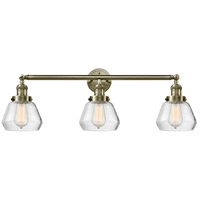 Innovations Lighting 205-AB-G172-LED Fulton LED 30 inch Antique Brass Bath Vanity Light Wall Light Franklin Restoration