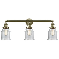Innovations Lighting 205-AB-G182 Canton 3 Light 30 inch Antique Brass Bath Vanity Light Wall Light Franklin Restoration