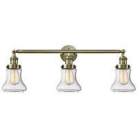 Innovations Lighting 205-AB-G194 Bellmont 3 Light 30 inch Antique Brass Bath Vanity Light Wall Light Franklin Restoration