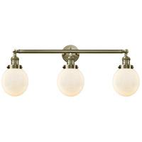 Innovations Lighting 205-AB-G201-6-LED Beacon LED 30 inch Antique Brass Bath Vanity Light Wall Light, Franklin Restoration