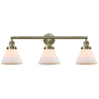 Innovations Lighting 205-AB-G41 Large Cone 3 Light 32 inch Antique Brass Bath Vanity Light Wall Light Franklin Restoration