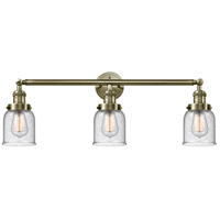 Innovations Lighting 205-AB-G54 Small Bell 3 Light 30 inch Antique Brass Bath Vanity Light Wall Light Franklin Restoration