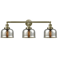 Innovations Lighting 205-AB-G78 Large Bell 3 Light 32 inch Antique Brass Bath Vanity Light Wall Light Franklin Restoration