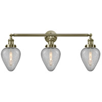 Innovations Lighting 205-AB-S-G165-LED Geneseo LED 32 inch Antique Brass Bath Vanity Light Wall Light Franklin Restoration