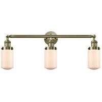Innovations Lighting 205-AB-S-G311-LED Dover LED 31 inch Antique Brass Bath Vanity Light Wall Light Franklin Restoration