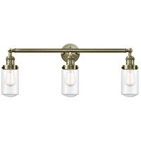 Innovations Lighting 205-AB-S-G312-LED Dover LED 31 inch Antique Brass Bath Vanity Light Wall Light Franklin Restoration