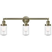 Innovations Lighting 205-AB-S-G314-LED Dover LED 31 inch Antique Brass Bath Vanity Light Wall Light Franklin Restoration