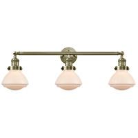 Innovations Lighting 205-AB-S-G321 Olean 3 Light 31 inch Antique Brass Bath Vanity Light Wall Light Franklin Restoration