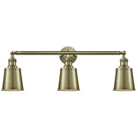 Innovations Lighting 205-AB-S-M9-AB Addison 3 Light 32 inch Antique Brass Bath Vanity Light Wall Light Franklin Restoration