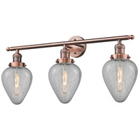Innovations Lighting 205-AC-G165-LED Geneseo LED 32 inch Antique Copper Bath Vanity Light Wall Light Franklin Restoration