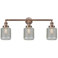Innovations Lighting 205-AC-G262 Stanton 3 Light 32 inch Antique Copper Bath Vanity Light Wall Light Franklin Restoration
