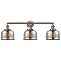 Innovations Lighting 205-AC-G78 Large Bell 3 Light 32 inch Antique Copper Bath Vanity Light Wall Light Franklin Restoration
