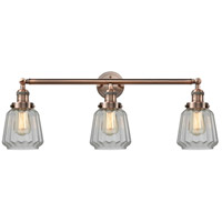 Innovations Lighting 205-AC-S-G142 Chatham 3 Light 30 inch Antique Copper Bathroom Fixture Wall Light Adjustable